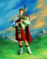 Bagpiper by scorpy-roy