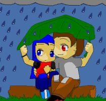 In the Rain by ShadowFire90