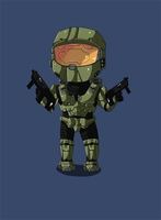 Master Chief (Chibi) by Alulle