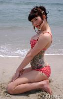 Beach Pinup by NaomiNekro