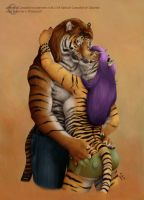 Stripy Kisses - Commission by lenzamoon