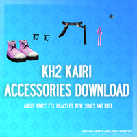 KH2 Kairi's accessories - DL by Kingdom-Hearts-Realm