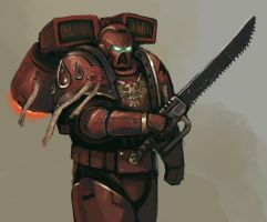Assault Marine speed painting by FonteArt