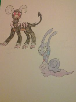 Houndoom+Swirlix,Sliggoo+Sableye by Razorwingproject201