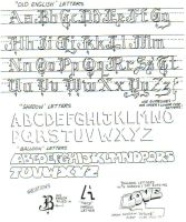 Lesson 11 Letter styles by Inuyashaslove