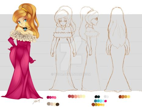 Princess (Model Sheet) by Yzom