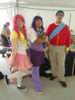 Hatsume Fair '13: Pinkie, Twilight, and Shining by NaturesRose