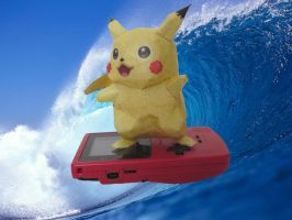 Surfing Pikachu Pokedoll by PrincessStacie