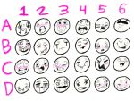 Silly Expression Sheet by PanTran