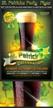 St. Patricks Party Flyer Template by Hotpindesigns