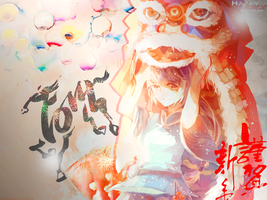 Happy Chinese New Year 2014 Wallpaper HD by MegaBleachy