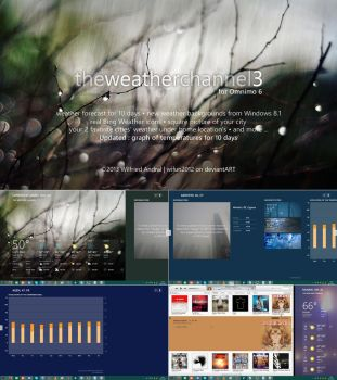 The Weather Channel Hub 3 for Omnimo 6 (Rainmeter) by wifun2012