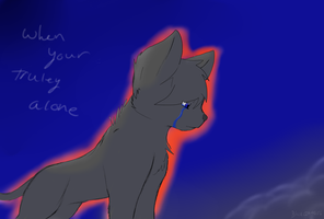 after you hurt me i was alone. by Darkwolfhellhound