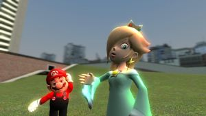 Rosalina and Mario by MillieTailskoPrower