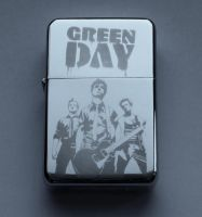 GREEN DAY - engraved lighter by Piciuu