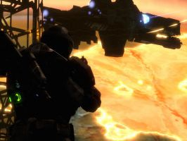 Halo Reach: in the distant battle by purpledragon104