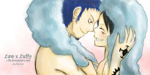 Law x Luffy - After Bath by c-lla