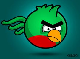 Guatemala's Nartional Angry Bird by criarpo