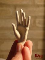 W.I.P: Firefox BJD - left hand 2 by PuppitProductions