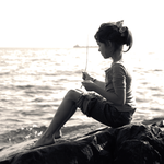 girl on the water's edge by equivoque