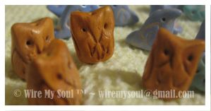 Owl Artbeads by WireMySoul