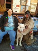 Timber Wolf and Native American by Jovianwolfgirl