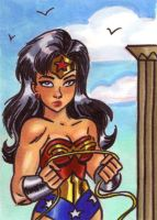 Wonder Woman Sketch Card by em-scribbles