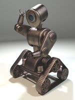 3D Model: Steampunk Robot by ark4n