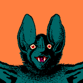 Teal Bat 7 by BluesMcCrow