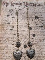 pendent hearts by TheLovelyBoutique