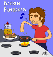 Just me.. making bacon pancakes by xtremeexe