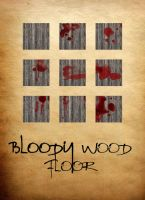 Bloody Wood Floor Tiles by ladnamedfelix by ladnamedfelix