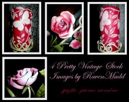 Pretty Vintage - Candles Roses by RavenMaddArtwork