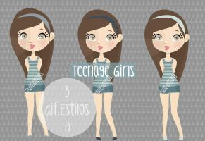 Teenage Girls *3* by PauTomlinson