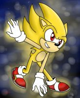 Super Sonic colored by saori-the-hedgecat by heitor-jedi