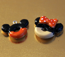 Mickey and Minnie Mouse Donuts by ClayNoob