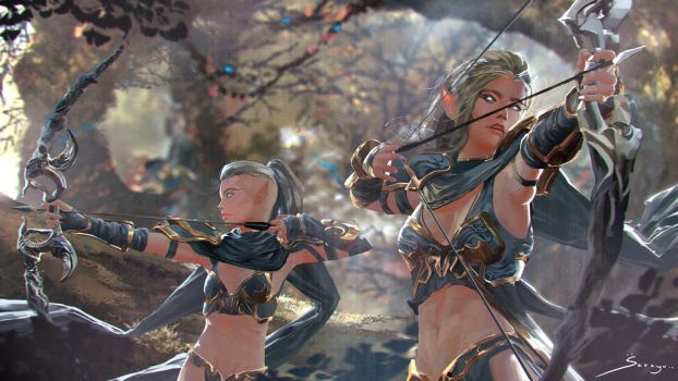 Wood Elves by Ron-faure