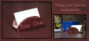 """Take One"" Glazed Card Holders by craftysorceress"