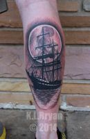 Sail boat or pirate ship tattoo? by danktat