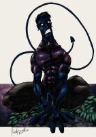 Nightcrawler sketch color by -adam-
