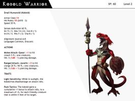 DnD-Next-Monster Cards-Kobold Warrior by dizman