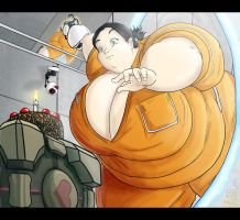 Portal's fat Chell by Satsurou