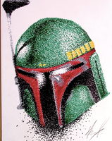 Boba Fett Pointilism by AnthonyParenti