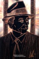 Meyer Lansky... Art Work by arihoff