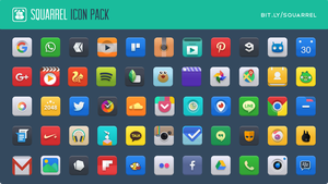 Squarrel Icon Pack for android by Charmeleo