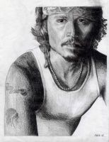 Johnny Depp by Aleid