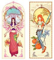 CF Bookmarks : Robin and Nami by Zae369
