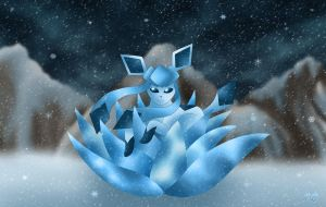 Glaceon - Winter Flourish by Rose-Beuty