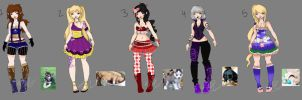 Puppy Haunter Adopts (OPEN) by Musicallychalanged