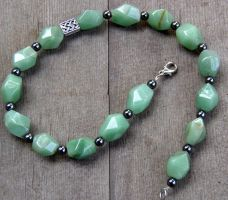 Celtic Aventurine Necklace by mailledragon